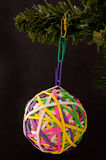 Rubberband Ball And Paperclip Ornament Stock Photography