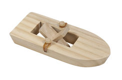Rubberband Powered Boat. Rubberband powered wooden paddle boat - path included Royalty Free Stock Photo