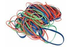 rubberbands colorés de pile Images stock