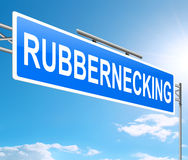 Rubbernecking concept. Stock Images