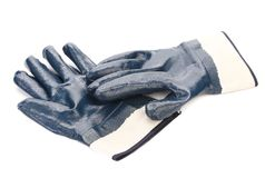 Rubbers protective blue gloves. Royalty Free Stock Photo