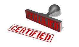 Rubberstamp certifié Photo stock