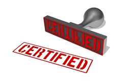 Rubberstamp certificato Fotografia Stock