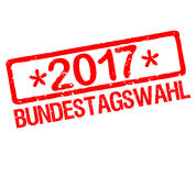 Rubberstamp with text German election 2017. In german Royalty Free Stock Image