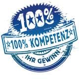 Rubberzegel 100% bekwaamheid Stock Foto's