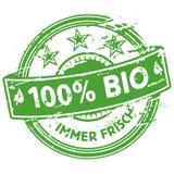 Rubberzegel 100% bio Royalty-vrije Stock Afbeeldingen