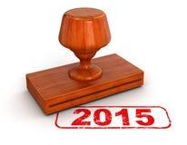 Rubberzegel 2015 (het knippen inbegrepen weg) Royalty-vrije Stock Foto's