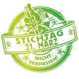Rubberzegel 31 Maart Royalty-vrije Stock Foto