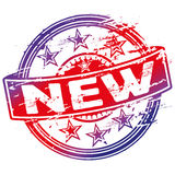 Rubberzegel nieuwe overeenkomst Royalty-vrije Stock Foto
