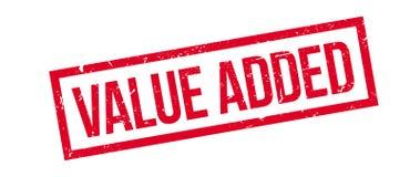 Rubberzegel op de toegevoegde waarde stock illustratie