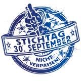 Rubberzegeluiterste termijn 30 september Stock Afbeeldingen