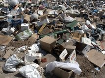 Rubbish, Aragon, Spain Stock Image