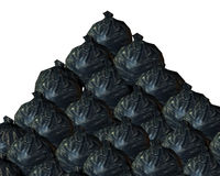 Rubbish Background. A background made out of rubbish bags Stock Image
