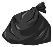 Free Rubbish Bag In Black Color Royalty Free Stock Photography - 82560227