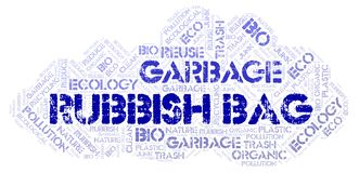 Rubbish Bag word cloud. Wordcloud made with text only stock photo