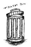 Rubbish bin filled with waste Royalty Free Stock Photo