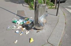 Rubbish bin Paris France
