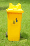 A rubbish bin in the park Stock Images