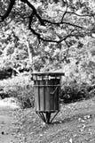 Rubbish bin in park Royalty Free Stock Image