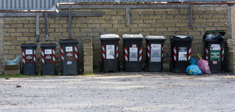 Rubbish bins of toxic waste Royalty Free Stock Photo