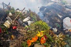 Rubbish burning Stock Photo
