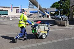 Rubbish Collector, Coventry. Royalty Free Stock Image