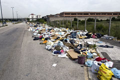 The rubbish crisis in Naples Royalty Free Stock Photo
