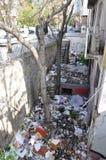 Rubbish dump. In Ankara city center, Turkey. April, 2013 Royalty Free Stock Photo