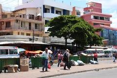 Rubbish dumps in a street of Santa Cruz in Bolivia Stock Image