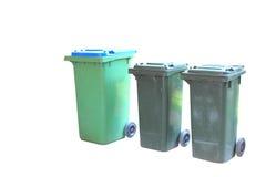 Rubbish e recicl os escaninhos isolados Imagens de Stock Royalty Free