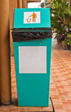 Rubbish e ricicli i recipienti Fotografia Stock