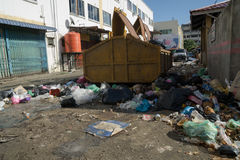 Rubbish. Everywhere at town which doest impact to our environment Stock Photo
