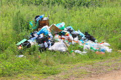 Rubbish heap. The Photography in the centre which rubbish heap polluting surrounding ambience Royalty Free Stock Image