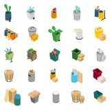 Rubbish heap icons set, isometric style. Rubbish heap icons set. Isometric set of 25 rubbish heap vector icons for web isolated on white background stock illustration
