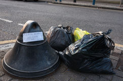 Rubbish left incity street. Stock Photography
