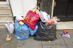 Rubbish in London Royalty Free Stock Images