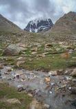 Rubbish near Holy Mount Kailash Stock Photo