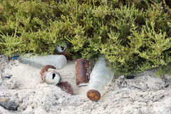 Rubbish On A Beach Stock Images