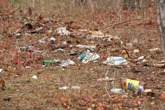 Rubbish on the park Royalty Free Stock Photography