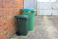 Rubbish and recycle bins Royalty Free Stock Image