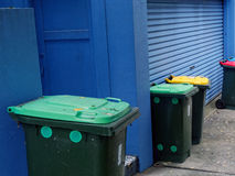 Rubbish and Recycling Bins Royalty Free Stock Photography