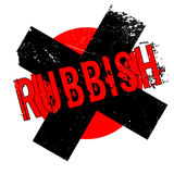 Rubbish rubber stamp Royalty Free Stock Photo