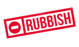 Rubbish rubber stamp Stock Photos