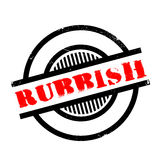 Rubbish rubber stamp Stock Images