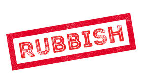 Rubbish rubber stamp Royalty Free Stock Images