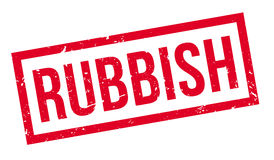 Rubbish rubber stamp Royalty Free Stock Photos