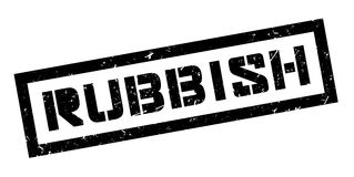 Rubbish rubber stamp Royalty Free Stock Photography
