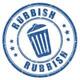 Rubbish rubber vector stamp stock illustration