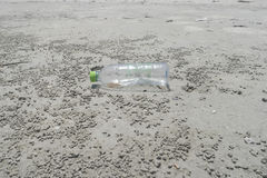 Rubbish on the sand. Beach Royalty Free Stock Image