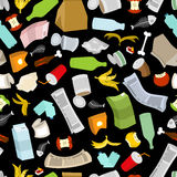 Rubbish seamless pattern. Garbage texture. trash ornament. dirty royalty free illustration